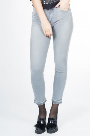 For all mankind Women (aansluitende jeans, uitgerafeld)
