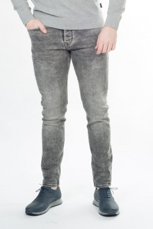 Chasin' (broek, knopen, slim, lage taille, washed)