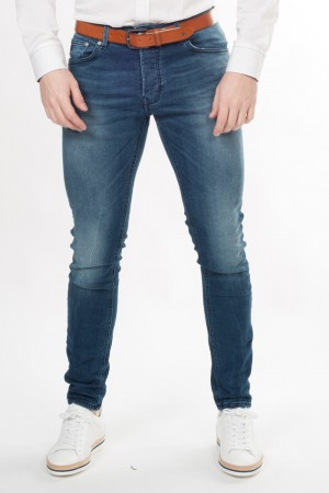 Chasin' (jeans met knopen, slim, lage taille)