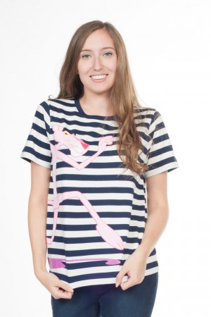 Essentiel (T-shirt ronde hals, Pink panther, Horizontale strepen)