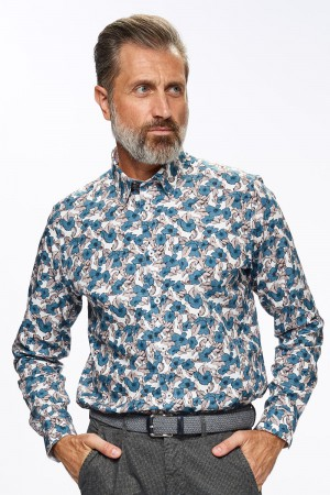 Ted Baker Men (Hemd met bloemenprint , Button under )
