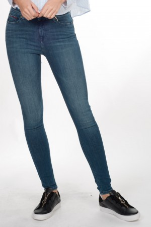 Tommy H Dames (skinny jeans, mid rise, )